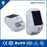 Lámpara al aire libre accionada solar caliente del blanco 1W LED