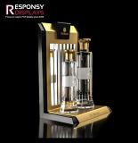 Crémaillère d'étalage acrylique de parfum de modèle de stand cosmétique populaire de partie supérieure du comptoir