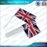 手のフラグの旗(M-NF01P01029)を広告するPVC習慣