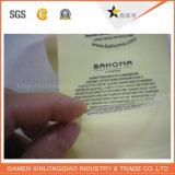 Impermeable de plástico transparente de papel auto-adhesivo epoxi de impresión de etiquetas engomada