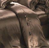 コーヒー優雅シリーズOeko Tex-100継ぎ目が無い22mmシートの100%年のクワ絹の羽毛布団カバー