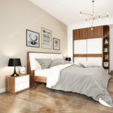 Bj01Aの現代木製の家具の寝室のホテルの部屋のベッド