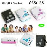 아이 초로 V16를 위한 Sos 단추를 가진 가장 작은 소형 GPS 추적자