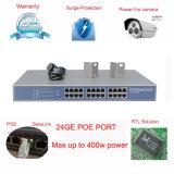 commutateur réseau gauche de Poe managé par 10/100/1000Mbps du commutateur réseau 24+2SFP (TS2624GI)