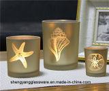 Suportes de vela de vidro da luz colorida quente do chá da forma do Sell
