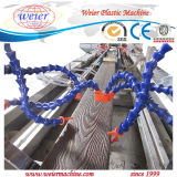 PP PE WPC compuesto de plástico de la madera de la línea de extrusión