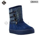 Теплые ботинки снежка хлопка женщин и людей на зима