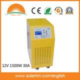 (X9-T15212-30) inverseur pur d'onde sinusoïdale 12V1500W avec Construire-dans le contrôleur 30A