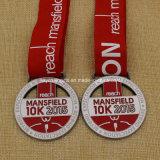 Médaille 2015 faite sur commande de marathon de Mansfield 10k de portée de promotion