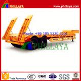 2axle 30tons Lowbed LKW-halb Schlussteil-niedriges Bett mit Strichleitern