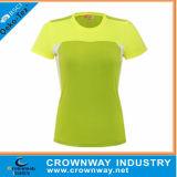 Le polyester d'hommes folâtre le T-shirt, T-shirt courant avec l'impression faite sur commande de logo