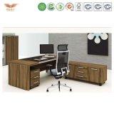 유일한 현대 행정실 책상 또는 호화스러운 나무로 되는 사무실 책상