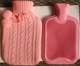 Torção cor-de-rosa tampa feita malha para a garrafa de água quente das BS