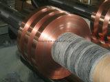 Constructeur de la bande de cuivre de clinquant pour le câble coaxial de liaison