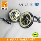 7 '' Beam massimo minimo LED Headlight con Halo Ring