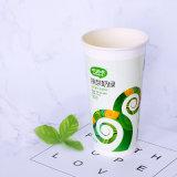 Parede simples copo de papel quente descartável com tampas