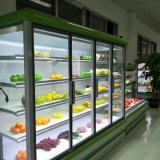 Porta de vidro Urpright congelador para exibição comercial Supermercado