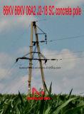 Megatro 66kv 66kv 06A2 J2-18 Sc-Beton Pole