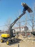 Venta caliente marca china de la excavadora de rueda con Grab