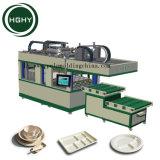 Hghy bandejas de almuerzo de moldeo de pulpa de papel de embalaje termoformado máquina de formación