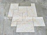 Le mattonelle di pavimento arrugginite del granito naturale hanno fiammeggiato il migliore prezzo di puzzle del pavimento delle mattonelle di pietra della pietra per lastricati