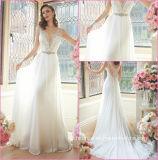 Мантия Y16331 венчания шифоновой империи шнурка платья венчания Bridal