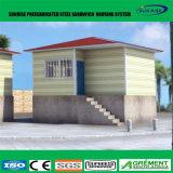 Chambre préfabriquée bon marché de structure métallique de Panelwall de sandwich à la mode provisoire à ENV