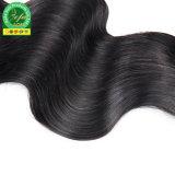 Trama umana brasiliana dell'onda del corpo dei capelli del commercio all'ingrosso 100% Remy