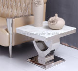 Tableau latéral moderne de meubles de salle à manger avec le dessus en verre