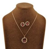 Conjunto cristalino de cobre amarillo de la joyería de la manera del nuevo de la llegada cobre rojo del Zircon