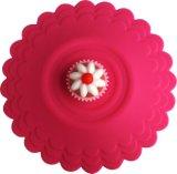 Nahrungsmittelgrad-wasserundurchlässiges Erdbeere-Kuchen-Form-Silikon-Glasdeckel