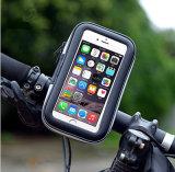 Berço impermeável do suporte da montagem do guiador da tampa da caixa do telefone do malote do saco do telefone do carrinho da bicicleta