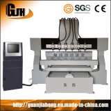 3D 4axe machine Multi-Head Woodworking CNC Router (DT2012W-8)