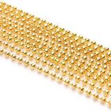 熱い販売のカスタムサイズ2.0mm 2.4mmの金属のビードの球のネックレスの鎖