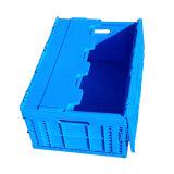 Sólido mayorista de cajas de plástico plegable con tapa para almacenamiento