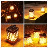 Angeschaltene im Freien Laterne-Licht-Solarlampe des Garde-flackernde Kerze-Halter-LED