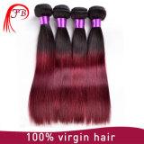 Virgin Mongolian extensão reta vermelha e preta de Omber do cabelo humano