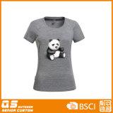 Gemisch-Druck-Form-schnelles trockenes T-Shirt der Frauen