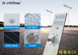 Selbst-Erfassende der Bewegungs-100W Straßenlaternesolar Fühler-intelligente der Systems-LED