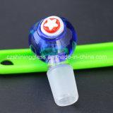 Tazón de fuente de cristal de la venta de diverso del diseño de agua del tubo tazón de fuente de cristal caliente de la hierba por el vidrio brillante
