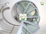 Grosses Haus gebogene Glasgeländer-schraubenartige Treppenhäuser