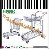 Supermarkt-einteiliger Plastik-und MetallEinkaufswagen