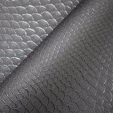 Geprägtes Tierschlange-Haut synthetisches PU-künstliches Beutel-Schuh-Leder