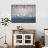 추상적인 파란 회색 그리고 백색 혼합 색깔 유화