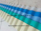 Водоустойчивые прессованные 2.0mm гофрировали плитки толя волны PVC пластмассы