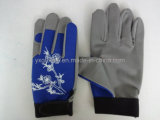 Arbeitshandschuh-Arbeitshandschuh-Sicherheits-Handschuh-Synthetischer lederner Handschuh-Arbeitender Handschuh
