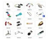 승진 (EG100)를 위한 열쇠 고리를 가진 역분개 금속 USB 섬광 드라이브 기억 장치 지팡이