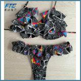 Настраиваемые абстрактных подходит для купания Biquini Monokini линии бикини