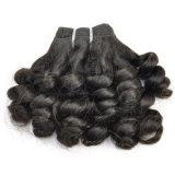 La qualité de Fumi curly top vierge 100 % d'extension de cheveux humains non traités