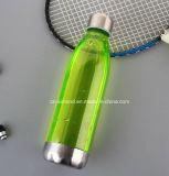 500 мл/700мл тритан пластиковую бутылку воды со стальной крышкой